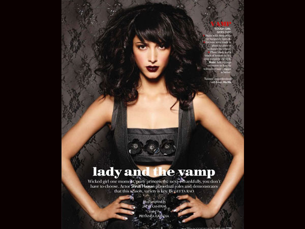 Shruti Hassan - Cosmopolitan Oct 2012