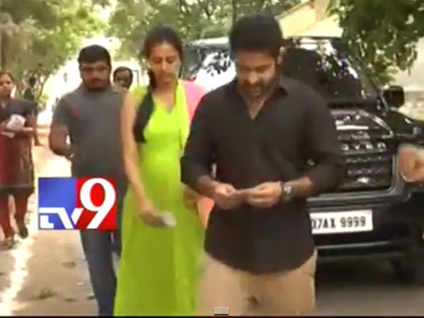 Junior NTR, Pregnant Wife Arrive In Jubilee hills