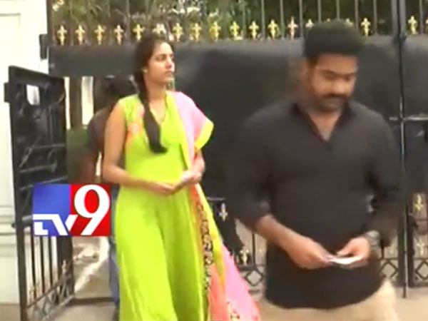 Junior NTR, Wife Lakshmi Heading To Vote
