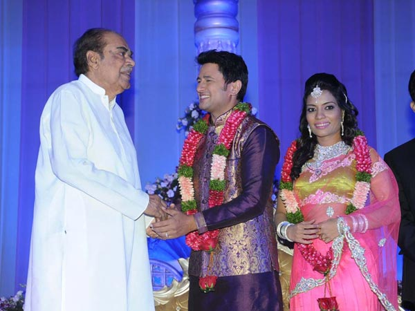 D Rama Naidu At Raja Abel Wedding Reception