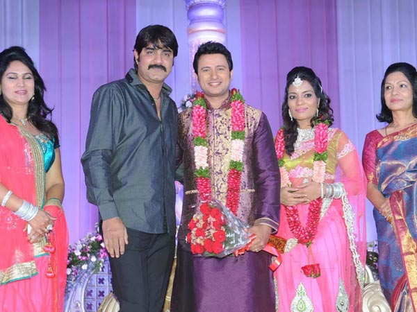 Srikanth At Raja Abel Wedding Reception