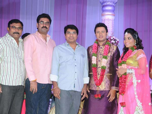Dasarath, Gopi Mohan At Raja Abel Wedding Reception