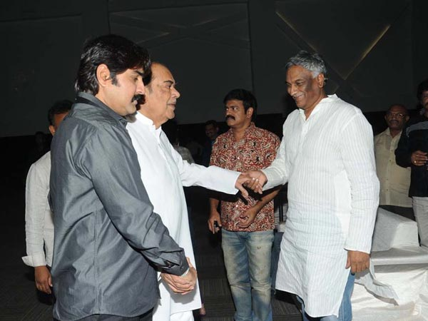 Rama Naidu-Tammareddy-Srikanth Bonding At Raja Wedding Reception