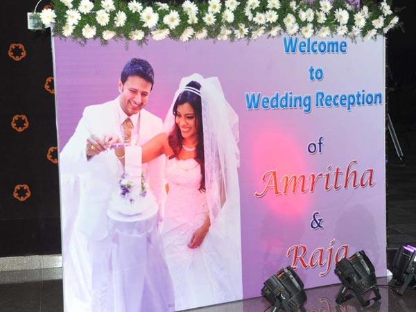Raja Abel, Amritha's Church Wedding