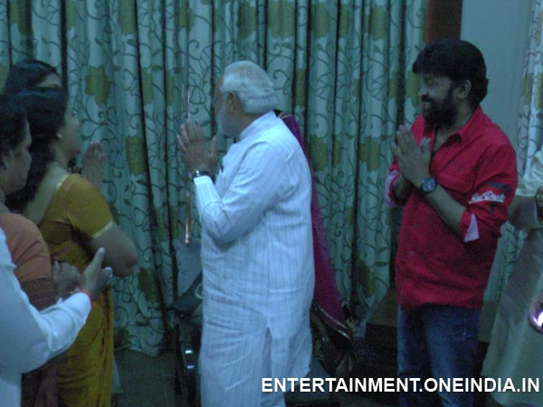 Narendra Modi Saying Good Bye To Rajasekhar