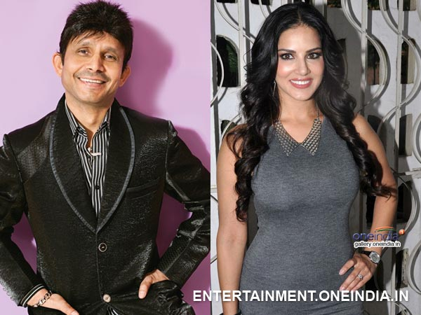 Kamaal R Khan and Sunny Leone