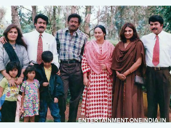 Mammootty Mohanlal Fazil With Families