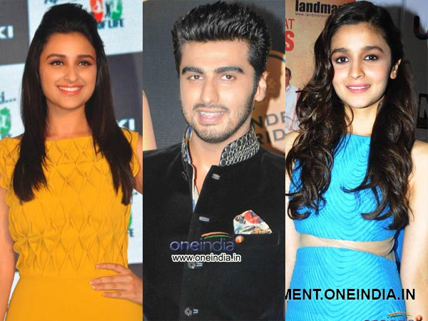 Arjun Kapoor Alia Bhatt and Parineeti Chopra