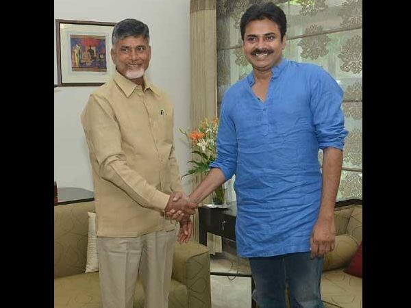 Naidu grabs a chance to have a word with Pawan