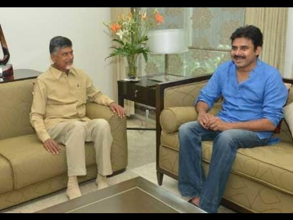 Positive Vibes In Pawan Kalyan, CBN's Faces