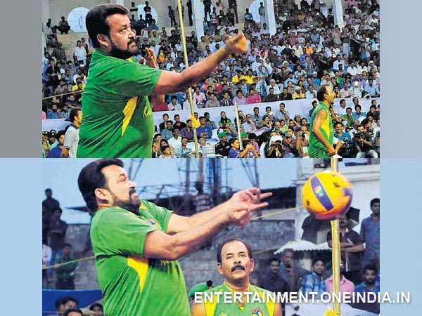 Mohanlal, Volleyball Match