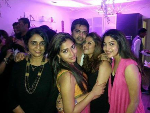 Simbu With Nayantara At Trisha's Birthday