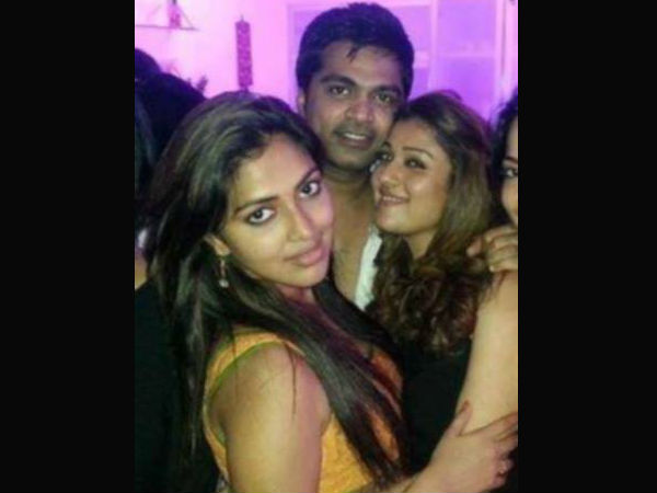 Amala Paul, Simbu, Nayantara And VJ Ramya At Trisha's Party