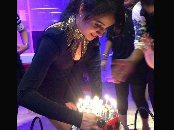 Trisha Getting Ready To Blow Birthday Candles