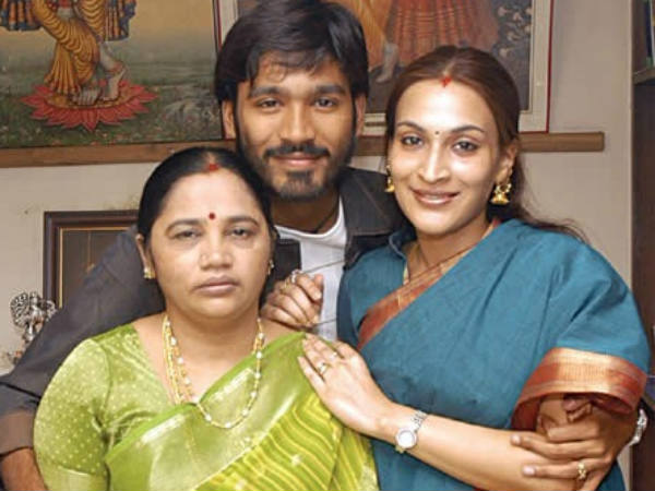 Dhanush With His Mother Vijayalakshmi