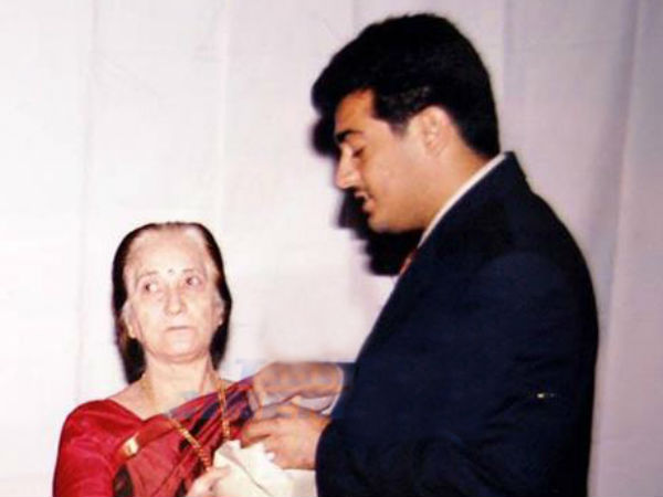 Ajith With His Mother Mohini