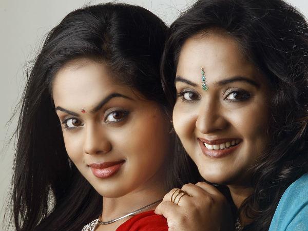 Karthika With Her Mom Radha