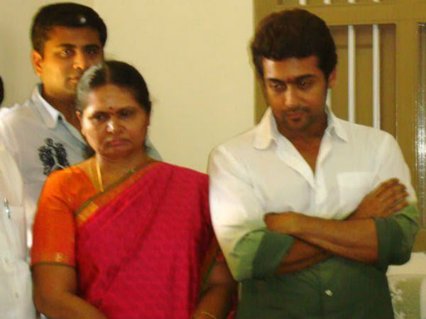 Surya With His Mom Lakshmi