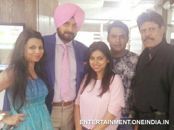 Kapil Dev With The Comedy Nights' Team
