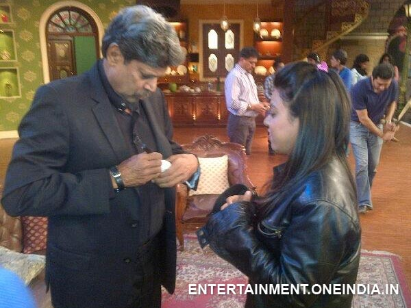 Kapil Dev With Neeti Simoes