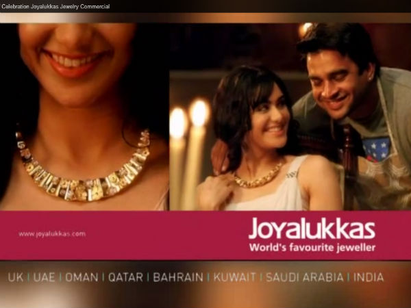 Adah Sharma With Madhavan In Joyalukkas Ad