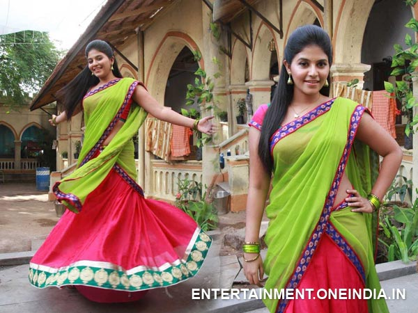 Anjali In Half Saree
