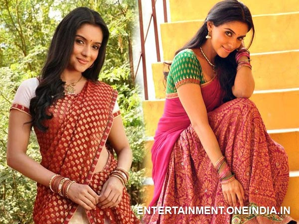 Asin In Half Saree
