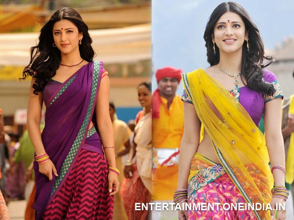 Shruthi Hassan In Hot Half Saree