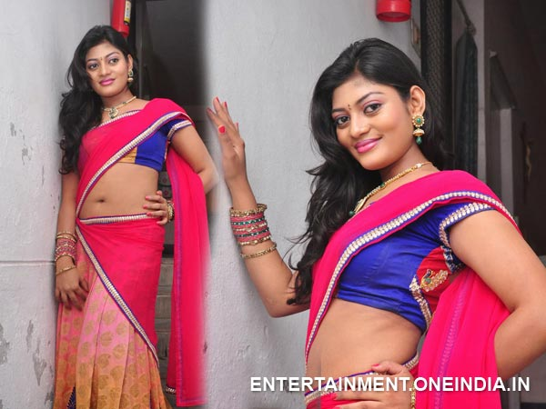 Soumya In Half Saree
