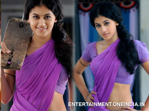 Taapsee Pannu In Half Saree