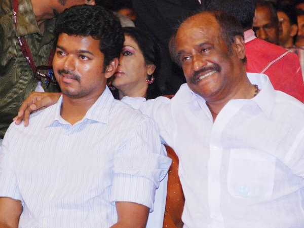 Vijay With Rajinikanth