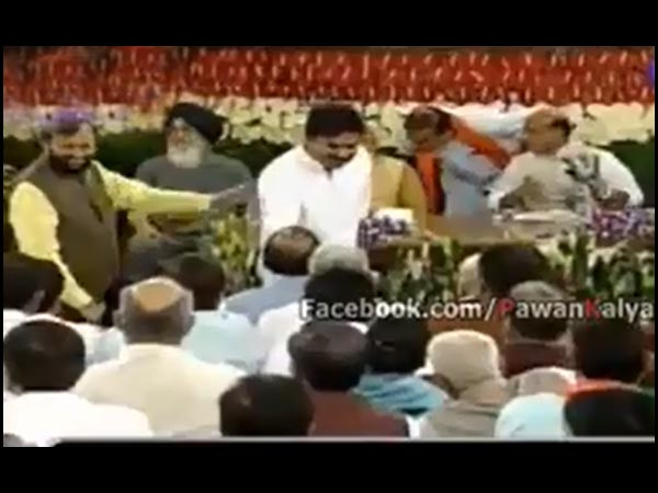 Pawan Kalyan Shakes Hands With MPs