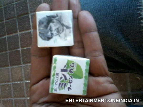 Sudeep's Photo On Chewing Gum Wrapper