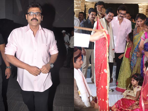 Venkatesh At Sivaji Raja's Daughter's Wedding
