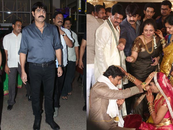 Srikanth At Sivaji Raja's Daughter's Wedding