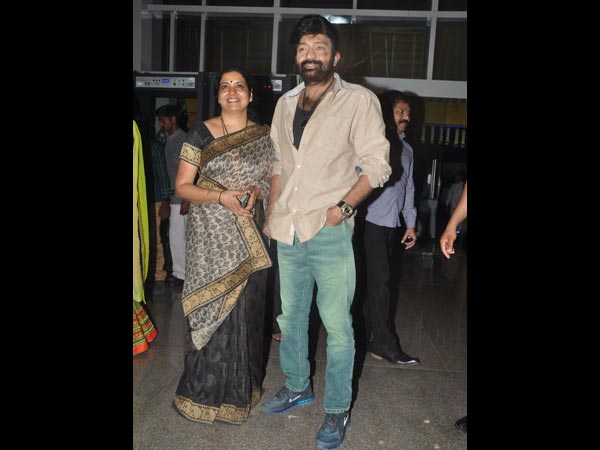 Rajasekhar, Jeevitha At Sivaji Raja's Daughter's Wedding