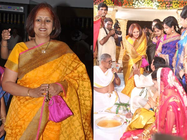 Jayasudha At Sivaji Raja's Daughter's Wedding