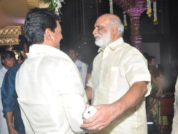 Raghavendra Rao At Sivaji Raja's Daughter's Wedding