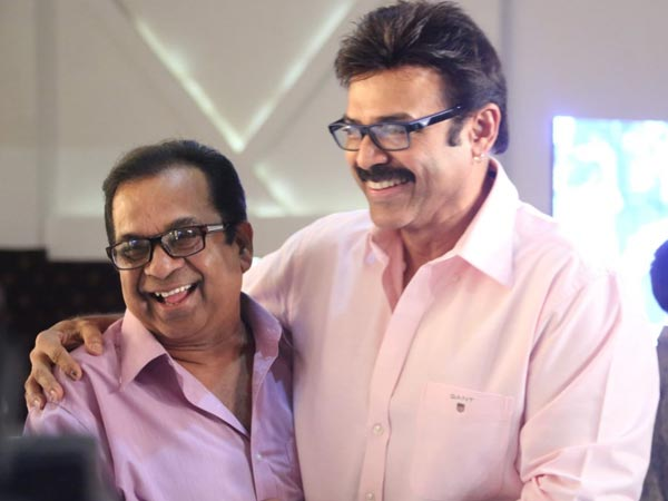 Venky, Brahmi At Sivaji Raja's Daughter's Wedding