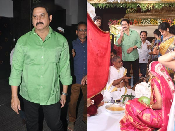 Suman At Sivaji Raja's Daughter's Wedding