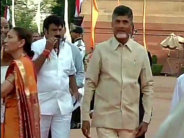 Balakrishna At Narendra Modi's Swearing In Ceremony