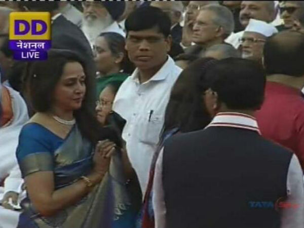 Hema Malini At Narendra Modi's Swearing In Ceremony