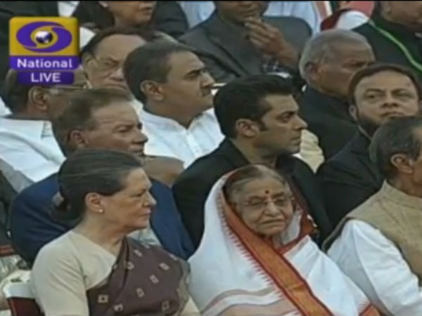 Salim, Salman Khan At Narendra Modi's Swearing In Ceremony