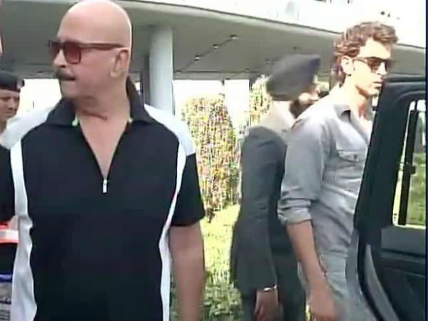 Rakesh, Hrithik Roshan At Narendra Modi's Swearing In Ceremony