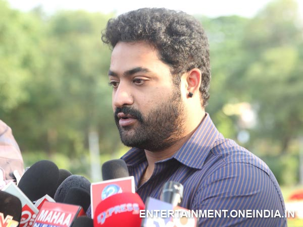 Junior NTR Addressing Media At NTR Ghat
