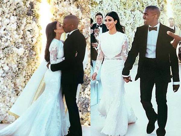 JUST OUT: Kim Kardashian n Kanye West Wedding Photos