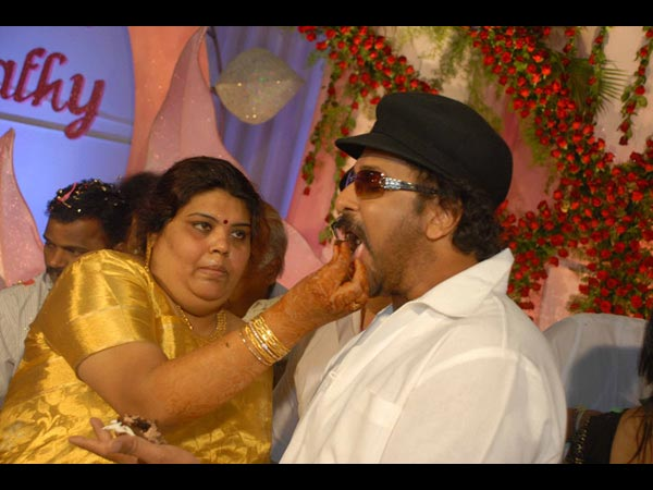 Ravichandran With His Wife Sumathy