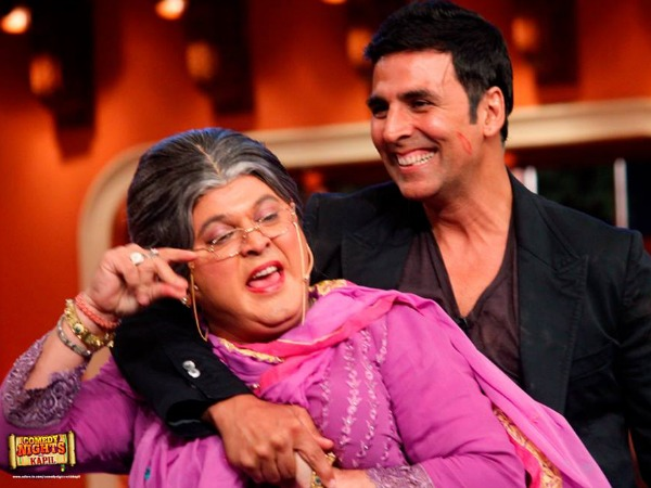 Akshay With Dadi