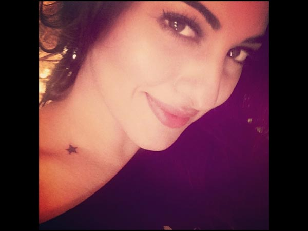 Sonakshi's Star Tatoo