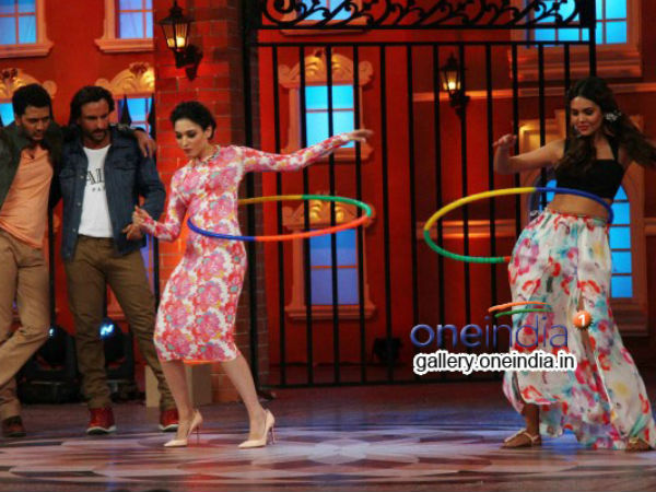 Tamannah And Esha Compete At Hoola Hoop